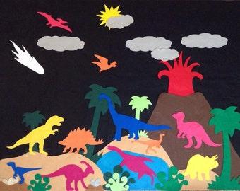 3'x4' Felt Board Set - Dino's