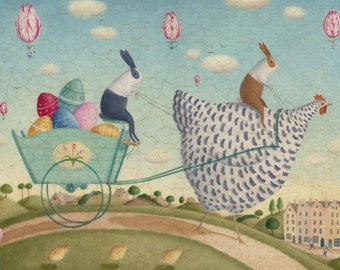 Spring parade  Original painting on paper with varnish