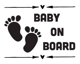 Baby On Board vinyl Sticker   Car window Decal   Window Cling