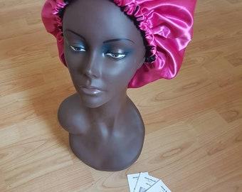 Reversible full satin sleeping bonnet