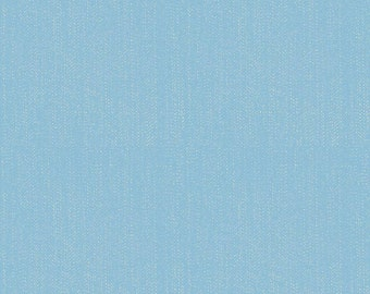 Blue Denim Cotton Fabric in Yard, 3/4, Half and 1/4 Lucky Denim Blue for Quilting Sewing Applique and Crafting Boy Fabric by Riley Blake