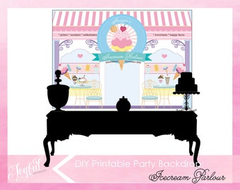 Ice Cream Birthday Party Backdrop | Icecream Party Backdrop | Ice Cream Party | Icecream Party