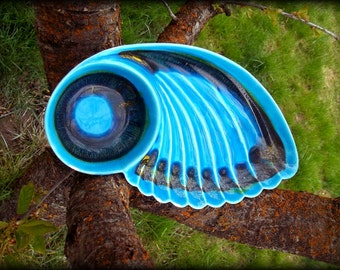 beautiful crudite dish - butterfly wing serve ware