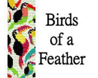 Peyote Pattern Birds of a Feather Toucan Beaded Cuff Bracelet Pattern Digital PDF 2 Drop Peyote Delica Seed Beads