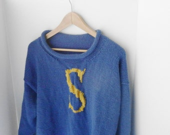CUSTOM - Monogram sweater, initial sweater, letter sweater - current turnaround time is 3 months