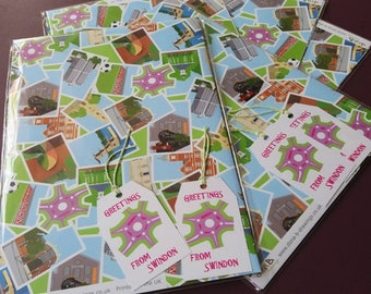 Swindon Wrapping Paper & Tags Pack