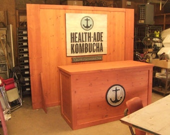 Trade Show Rustic custom table - farmhouse furniture - portable for display booth TABLE ONLY