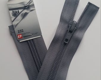 Detachable dark gray zipper closure