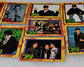 1980s Vintage NKOTB Collector Trading Cards -  1989 Big Step Productions - New Kids On the Block