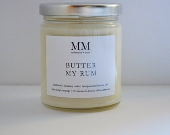 BUTTER MYRUM // natural soy candle // hand-poured // small batch