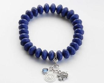 Bracelet in dark blue