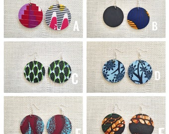 African Statement Earrings/African Fabric Earrings/Statement Earrings/Ankara Fabric Earrings/African Print Earrings/UPC#037136050296