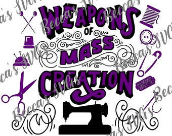 "2 color/layer ""Weapons of Mass Creation"" SVG"