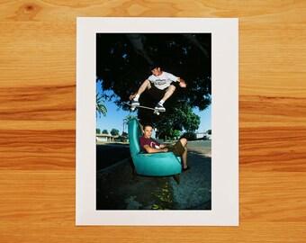 Jermey Wray ollies over Matt Hensley Skateboarding Photograph - Photo Print