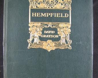 Hempfield // 1917 Leather Softback // David Grayson // Country Printing Office story // Adventure Fiction