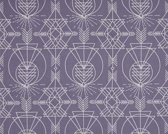 Joel Dewberry Wander Native in Stone/Lavender - Free Spirit Fabrics - Half Yard