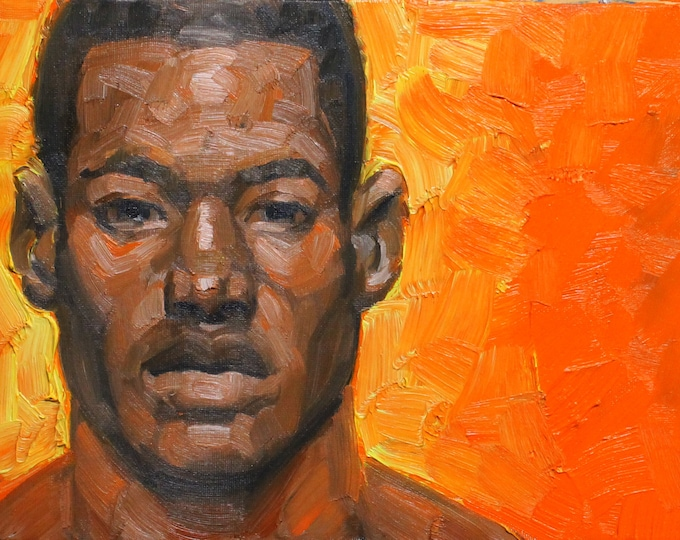 Orange, oil on canvas panel 9x12 inches by Kenney Mencher