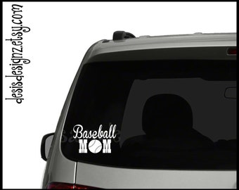 Baseball mom vinyl car decal, vynil car decal, vinyl window decal, window stickers, baseball decals
