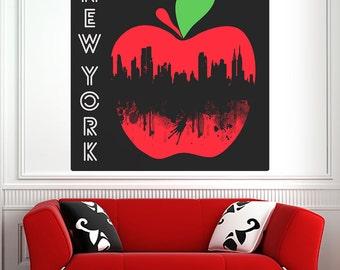 New York City Big Apple Wall Decal - #69996