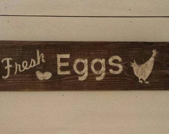 Fresh Eggs, Farmhouse Decor, Farmhouse, Rustic Sign, Rustic, Home Decor, Chicken, Kitchen Decor, Wood Sign, Chicken Decor, Rustic Home Decor