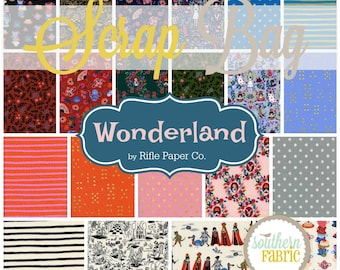 Wonderland - Scrap Bag Quilt Fabric Strips by Rifle Paper Co. for Cotton and Steel