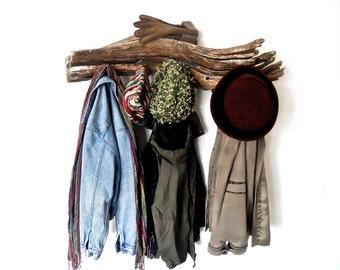 Rustic Coat Hanger, Driftwood Coat Rack, Driftwood Towel Rack, Cabin Coat Rack, Beach Coat Rack, Driftwood Beach Decor, Driftwood Wall Decor