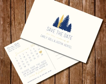 Printable Save the Date Postcard, Digital File