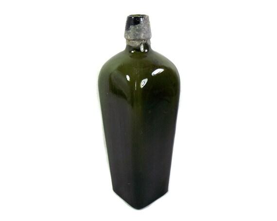 Antique Olive Green Case Gin Bottle