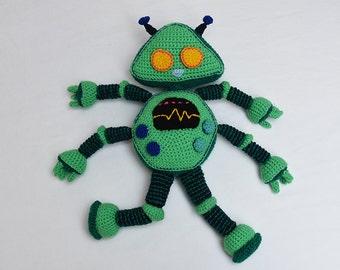Green Robot Crochet Pattern - Robot Amigurumi Pattern - Crochet Robot Pattern - Robot Toy Pattern - Amigurumi Crochet Pattern - no.181