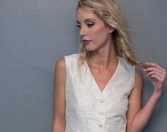 Soie des femmes adaptée gilet - couleurs personnalisées