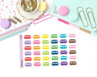 COLORFUL COUCHES Paper Planner Stickers!