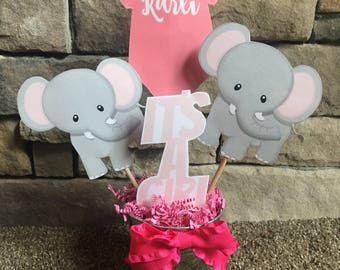 Elephant Girl Baby Centerpiece