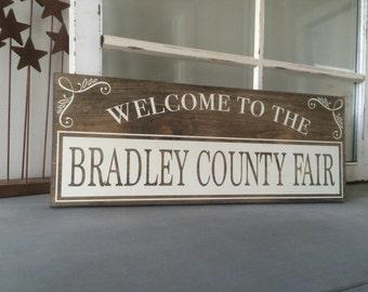 County Fair - Fun Sign - Rustic -