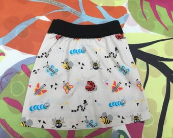Cute skirts with critters print