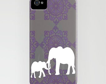 Mama and me on Phone Case - iPhone 6S, iPhone 6 Plus, Gift for mum, Samsung Galaxy S7, elephant gifts, gift for elephant lovers , iPhone 8