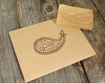 "Custom Logo Stamp ( 2"" x 2"" ) - Custom Stamp - Clear Rubber Stamp + Design Work"