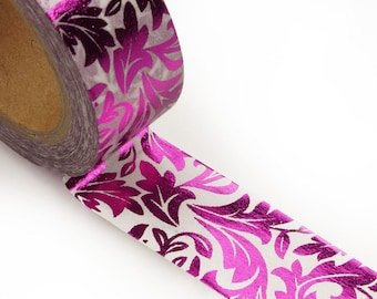 Metallic Magenta Flourish Washi Tape