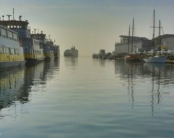 Ferries in Fog Portland, Maine
