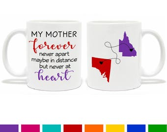 Personalised Long Distance Mother Mug - Coffee Mug - Unique Gift - Mother Mug - Gift for a Mum - Birthday Gift - My Mother Quote Mug