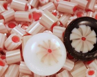 Ivory Primrose Murrini COE 104 handmade glass chips for lampwork or fusing.