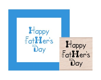 Happy Fathers Day tools Rubber Stamp
