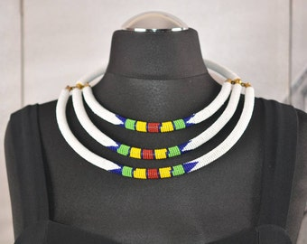 Three Strand Layered Necklace.