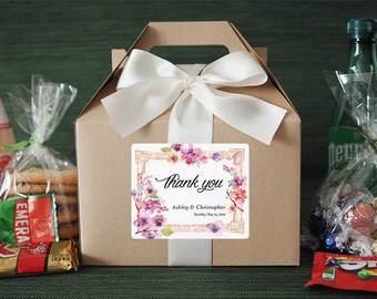 Set of 6- Wedding Favor / Wedding Welcome Box / Thank you Favor / Bridesmaid Gifts / Out of Town Guest Box / Personalized Favor Labels
