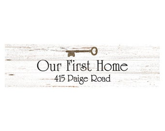 First Home Sign- Personalized wall sign