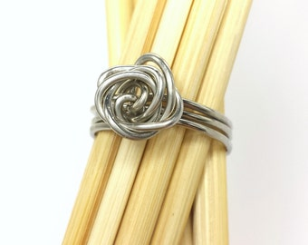 Stainless Steel Wire Wrapped Rose Ring Custom Made to Order