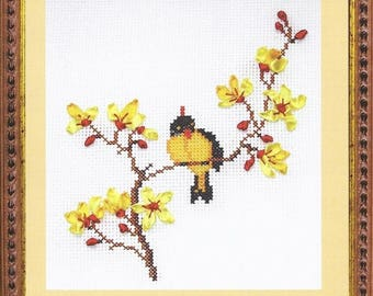 Embroidery kit with ribbons Spring Song D-0436