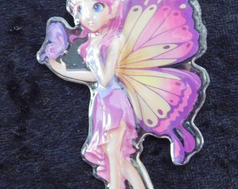 pink and purple fairy necklace