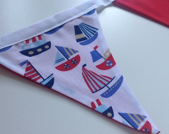 Red Boat Bunting