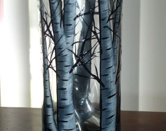 birch tree drinking glass (3 available right away)