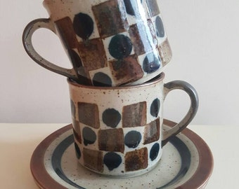 Tea & Coffee Cups - Mugs - Retro - Hand Painted - Kitchenalia - Gift